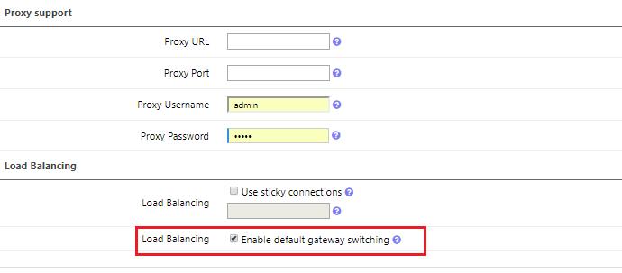 فعال کردن ویژگی Gateway Switching برای Load Balance و Failover