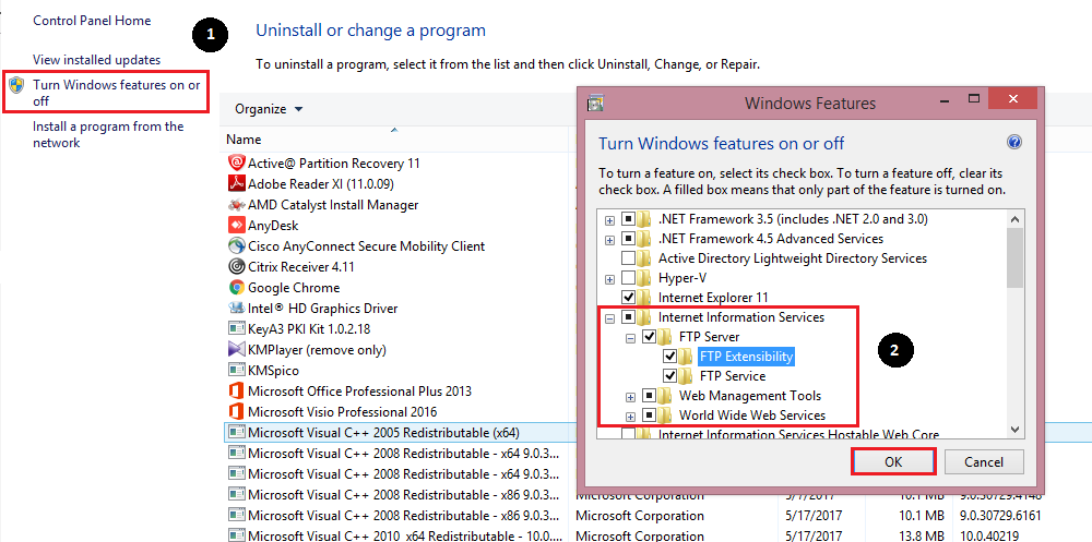 FTP Server Install in Windows